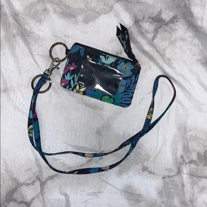 Vera Bradley ID Wallet with Matching Lanyard